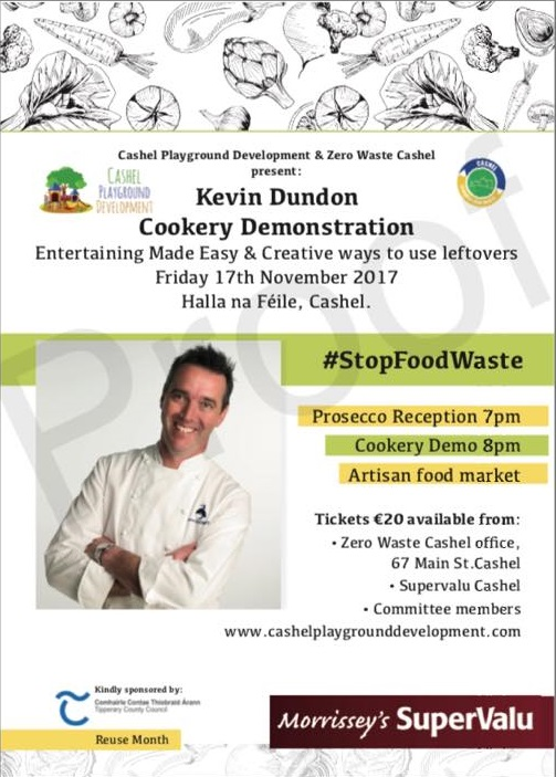 kevin dundon cooking demo cashel playground zero waste