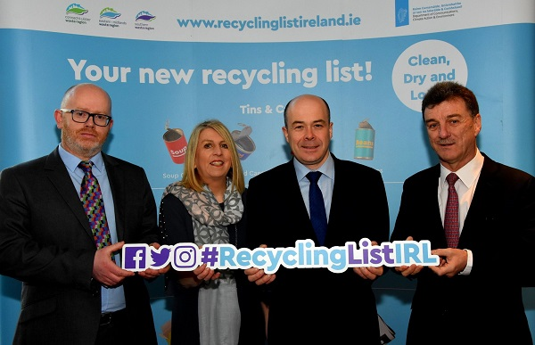 At the launch of the new Recycling Ambassador Programme in Dublin today (Wednesday) were Hugh Coughlan, Waste Plan Coordinator with the Eastern Midlands Waste Management Office, Philippa King, Waste Plan Coordinator with the Southern Region Waste Management Office, Minister for Communications, Climate Action and Environment Denis Naughten & Séamus Clancy, CEO Repak Ltd.
