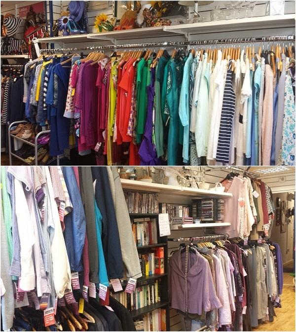 Great selection of clothing at NCBI Shop, Main St., Cashel