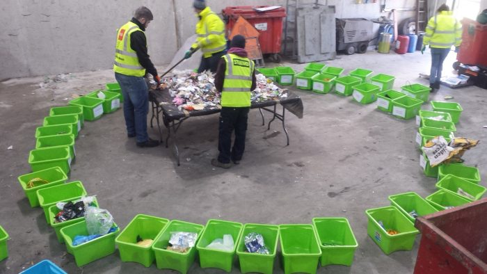 Waste was sorted into over 40 different categories during the Waste Characterisation Study
